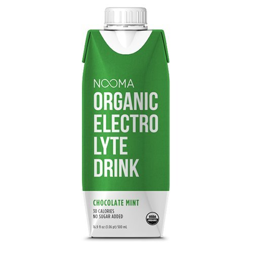 NOOMA Organic Electrolyte Drink, Chocolate Mint, 16.89 Fluid Ounce (Pack of 12)