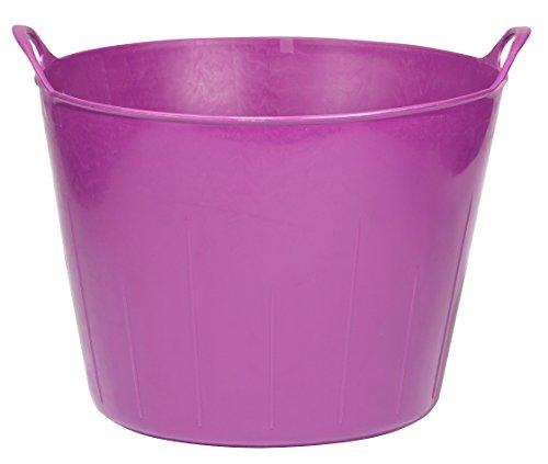 Little Giant Poly/Rubber Flex Tub, 11-Gallon, Purple