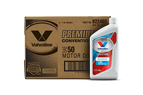 Valvoline Daily Protection SAE 50 Conventional Motor Oil 1 QT, Case of 6