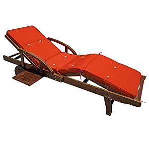 Deuba Detex® Coussin pour transat chaise longue de jardin ...