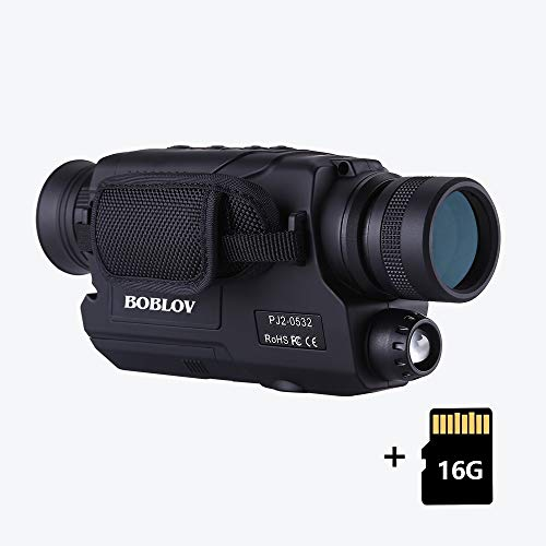 BOBLOV Digital Night Vision Monocular 5x32 Optics Scope Night Vision Infrared Monoculars with 16GB...