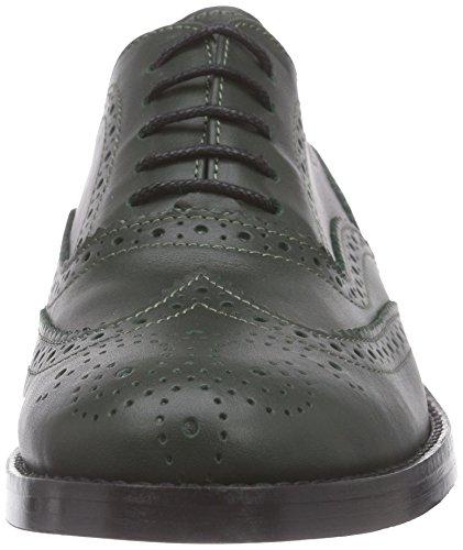 Mujer de Gr Piel Shoe Brogue Zapato Brogue Mentor Mentor Verde q0zXO