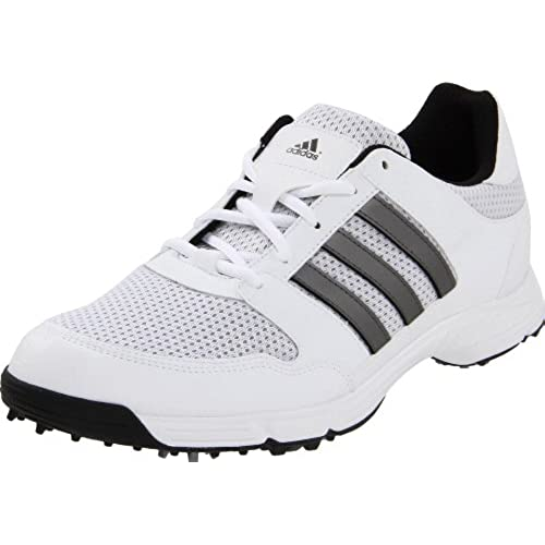 adidas Men's Tech Response 4.0 Golf Shoe, White/Dark Silver Metallic, 8.5 M  US