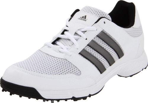 adidas Men's Tech Response 4.0 Golf Shoe,White/White/Dark Silver Metallic,9.5 M US