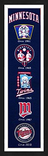 Minnesota Twins Framed Wall (Minnesota Twins Framed Heritage Banner 13x36)