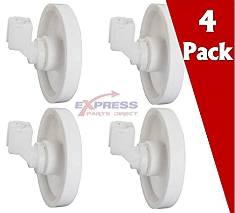 EXP154174501 [4 PACK] Dishwasher Lower Rack Roller ( Replaces 154174501  5300809640 154294801 AP2135554 PS452448 ) for Frigidaire, Kenmore, Tappan,