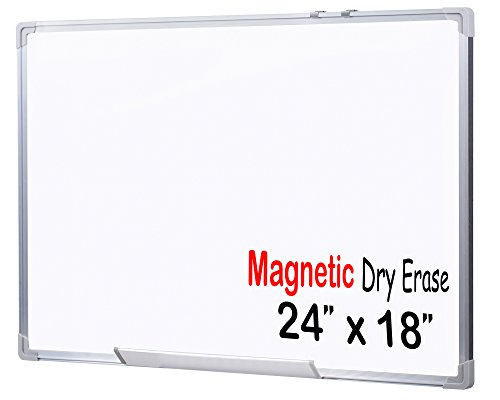 EGI MWB456011 24x18-Inch Magnetic Dry Erase White Board with Aluminum Frame and Wall Mounting Brackets
