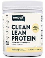 Nuzest Clean Lean Protein - Digestive Support, Pea Protein Powder with Added Probiotics, Vanilla, Vegan, Gut Health, Non-GMO, 20 Servings, 1.1 lb