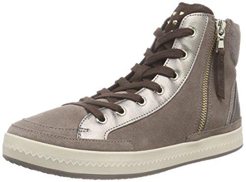 Geox D Modesty A, Baskets Hautes Femme Gris - Grau (C9006smoke Grey)