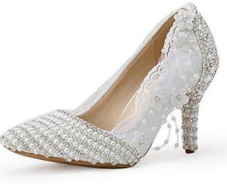 GGX/ Chaussures de mariage-Blanc-Mariage / Habillé / Soirée & Evénement-Talons / Bout Pointu-Talons-Homme 3in-3 3/4in-us5.5 / eu36 / uk3.5 / cn35 MNJMK