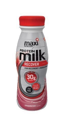 MaxiNutrition Protein Milk 330 ml Strawberry Ready-to-Drink Recover and Rebuild Shake - 8 x Bottles (Formerly Known as Maximuscle) by MaxiNutrition
