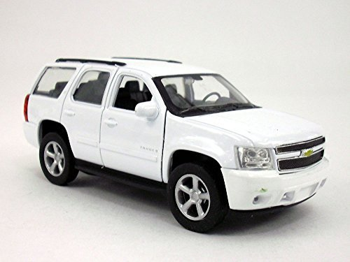 4.5 Inch Chevy Tahoe Scale Diecast Metal Model - WHITE (Tahoe Model Cars)