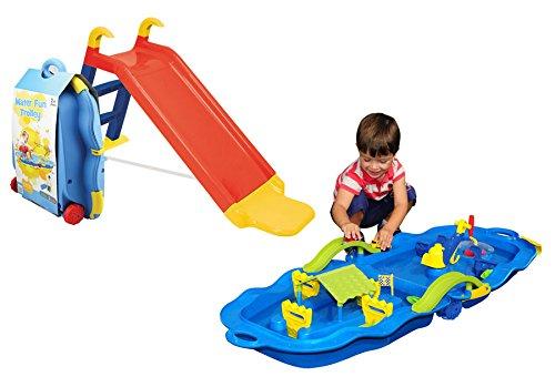 Starplay Gartenrutsche Kinder Rutsche mit Wasserbahn Trolley Outdoor Spielzeug
