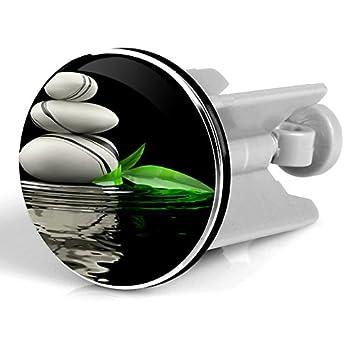 Bild Motiv Neu/&Ovp Chrom f/ür Robustheit Abflussstopfen mit Kunstharz /überzogen WOLTU #140 Waschbeckenst/öpsel Waschbeckenstopfen