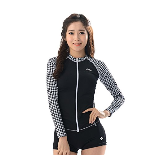 Belleap UV Protection Women's Compression Long Sleeve Zip up Sportswear Swimsuit for cheap