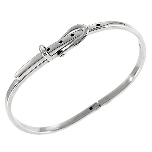 (Aleria Designs Sterling Silver Adjustable Belt Buckle Bracelet, 6 1/2