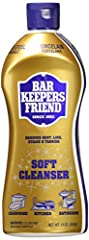 Bar Keepers Friend Soft Cleanser 13-Ounces delivers the same power as our classic Cleanser & Polish, but in a premixed formulation for a quick, consistent clean. This creamy, ready-to-use formulation clings to vertical surfaces, making it...