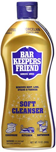 Bar Keepers Friend Soft Cleanser Premixed Formula | 13 Oz | (2 Pack) (Best Way To Clean Copper Pans)