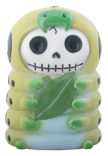 Furrybones Inch Skeleton in a Caterpillar Costume Holding a Leaf Figurine New (Caterpillar Costumes)