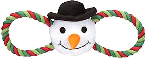 Zanies Holiday Hug Tug Dog Toy, - Snowman Toy Rope