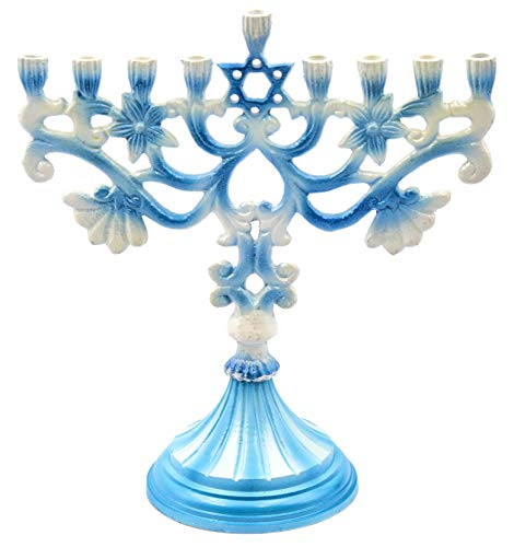 Hanukkah-Menorah-Star-of-David-Elegant-Blue-and-White