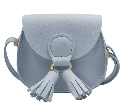 (RARITYUS PU Leather Shoulder Bag Coin Purse with Tassel Mini Crossbody Satchel Handbags for Kids)