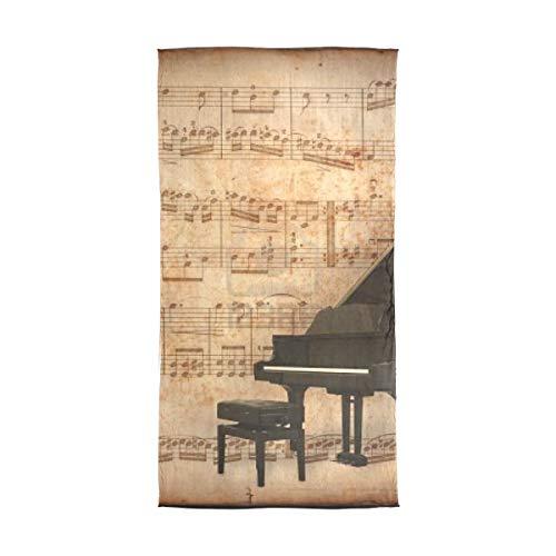 Scarf Piano And Retro Sheet Music Womens Chiffon Scarves Beach Thin Shawl Wrap