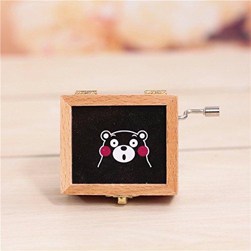 WWUUOOPRT Carillon di Regalo di Compleanno Crafts Music Box di Legno a manovella di Legno per la Decorazione Domestica-Kumamon Bear Regalo Festivo di Moda
