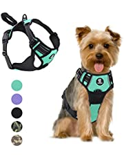 VavoPaw Dog Vest Harness, No Pull Design Pet Soft Padded Reflective Leash Chest Harness with Adjustable Strap for Various Sizes Dogs, Easy to Control, Size Small, Lake Blue
