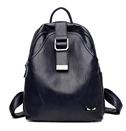 Femme bandoulière Sacs Zippers AgooLar Noir GMBCB181526 Mode Sacs à des Bleu HpxTO