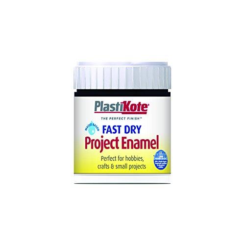 (Plastikote B2w 59ml Enamel Paint Bottle - Black Matt)