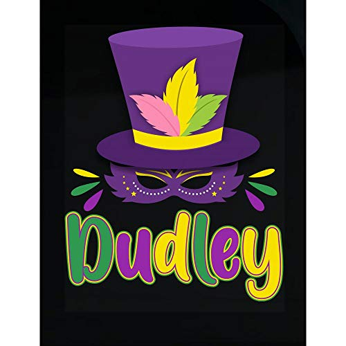 Amazing Fan Store Mardi Gras Theme Personalized Name Gift for Dudley - Transparent -