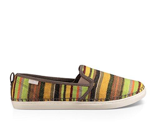 Sanuk Frauen Brook TX Slip-On Loafer Grüne Kauai-Decke