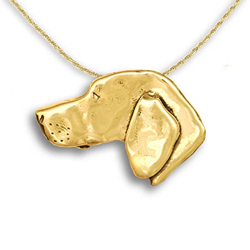 The Magic Zoo 14k Gold Weimaraner Pin Pendant