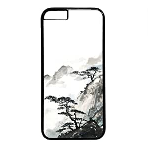 "Chinese Landscape Painting Theme Case for iPhone 6 Plus (5.5"") PC Material Black by runtopwell"