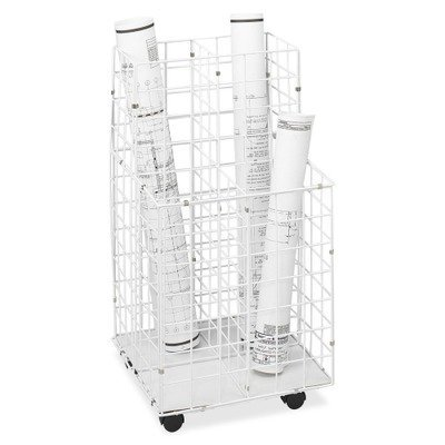 Safco 3084 - Wire Roll Files, 4 Compartments, 16-1/4w x 16-1/2d x 30-1/2h, White by Safco by Safco