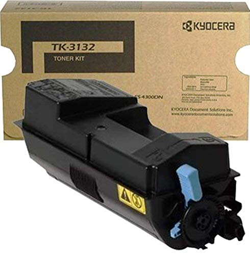 Kyocera 1T02LV0US0 Model TK-3132 Black Toner Kit Compatible with Kyocera ECOSYS M3560idn and FS-4300DN Laser Printers, Up to 25000 Pages Yield at 5 Percent Coverage, Includes Waste Toner Container Compatible Black Toner Kit