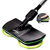 Felaaca Electronic Wireless Mop, 3 in 1 Wireless Spin Floor Cleaner for All Surfaces - Rechargeable Powered Floor Cleaner