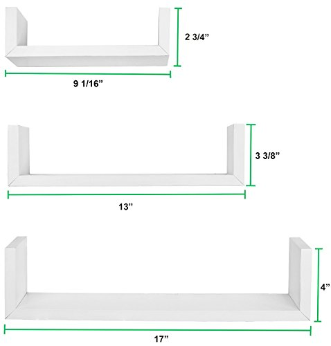Small wall shelves white