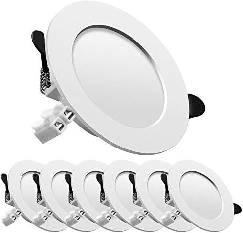 LED Einbaustrahler 230V Deckenspots Ultra flach inkl. 6 x 7W 700lm Kaltweiss Einbauleuchten Spots led set