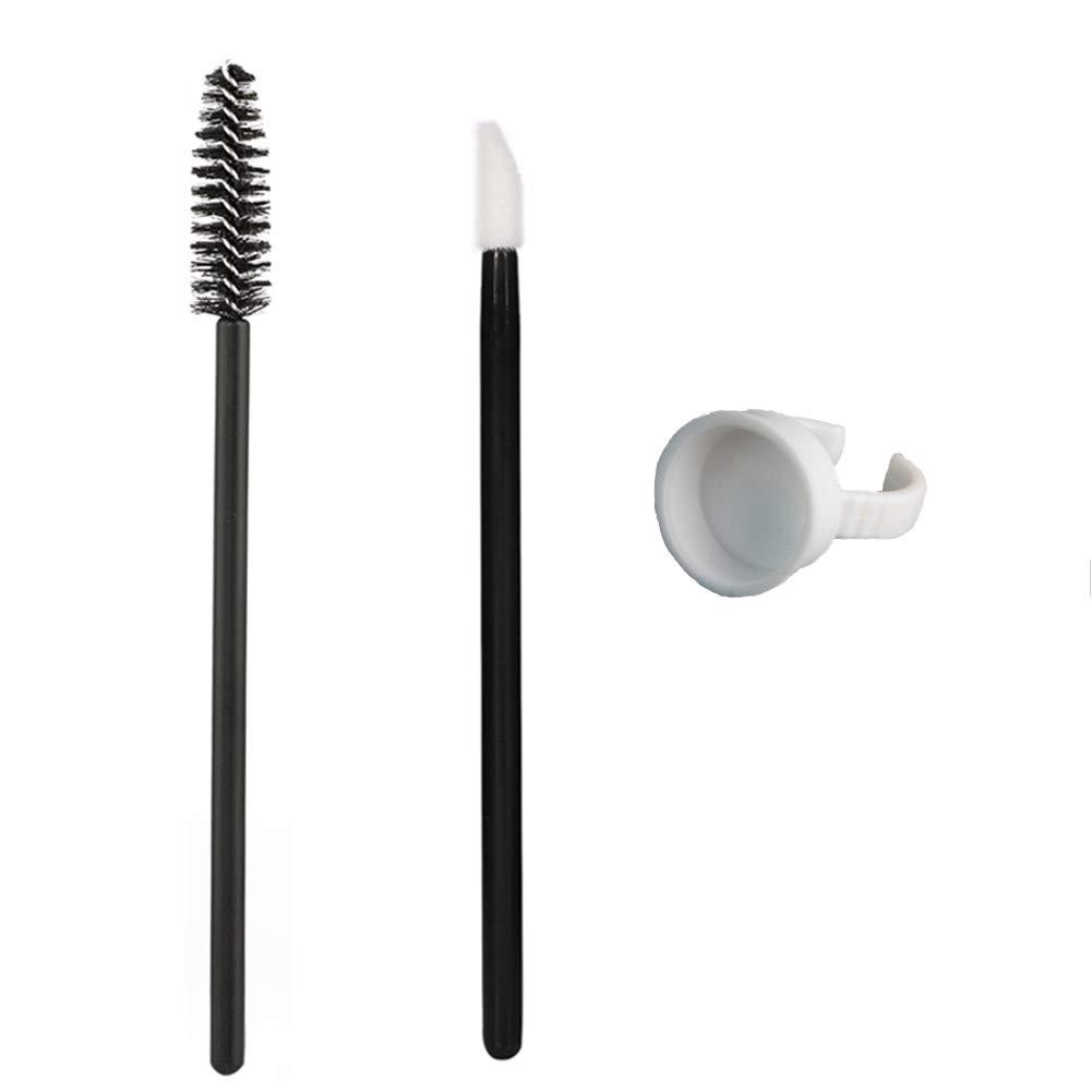 RORASA 300Pcs Disposable Eyelash Mascara Wands Brushes Lip Brush Glue Rings for Eyelash Extention Cosmetic Makeup Brush Applicator Tool Kit
