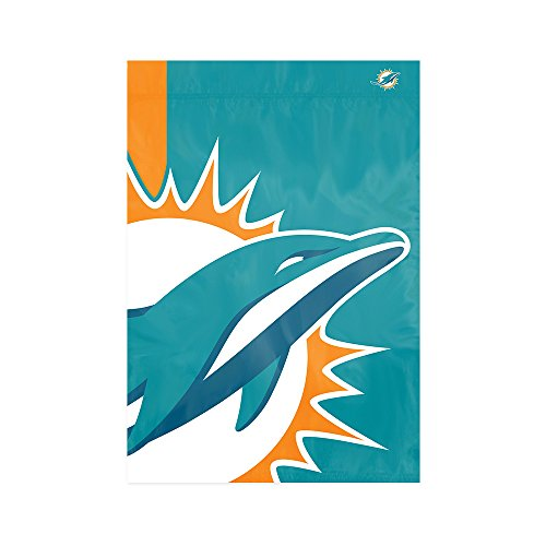Party Animal Miami Dolphins NFL Dye Sublimated Bold Logo Garden Flag