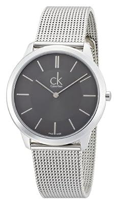 Calvin Klein K3M21124 Mens Minimal Grey Silver Watch