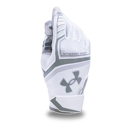 Under Armour Boys' Youth Heater Baseball Gloves, Medium, White - Kid Alpha Check