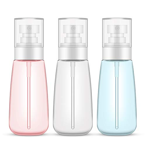 14f42118d72f 3pcs Fine Mist Spray Bottles, Segbeauty 3.4oz/100ml Airless Cosmetic Spray  Bottle Empty Clear Refillable Travel Containers Water Mister for Cosmetic  ...