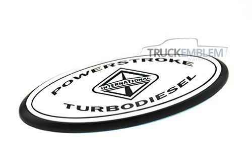 1 New Custom White & Matte Black 05-07 F250, F350, F450, F550 6.0L Power Stroke Super Duty Grill Emblem Tailgate Emblem