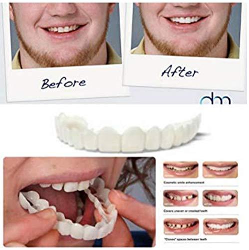 Cosmetic Teeth Keep White Instant Snap on Smile Comfortable Fit Denture Teeth Top Veneer