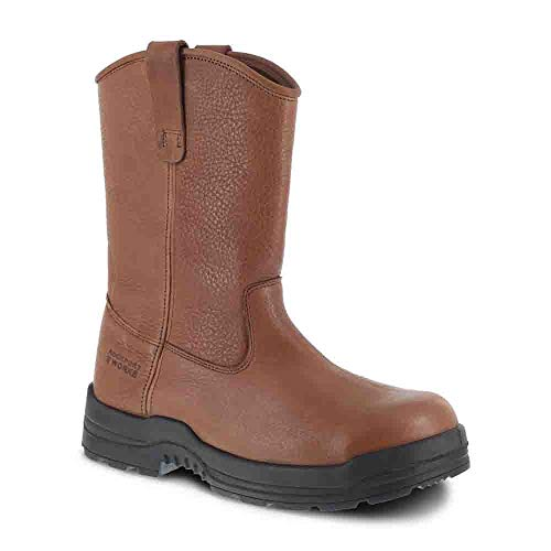ROCKPORT WORKS Men's More Energy Composite Toe Wellington Boot, Brown 11