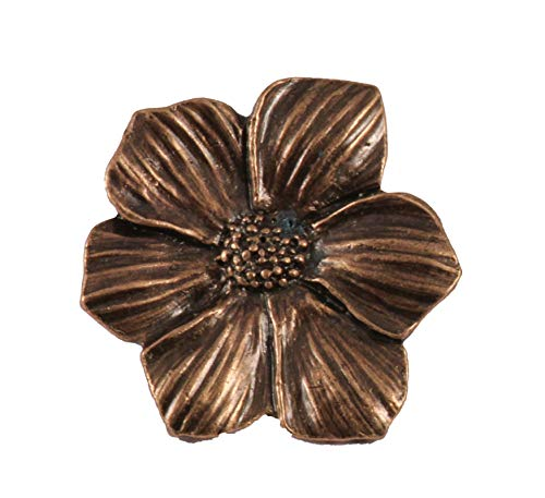 (Creative Pewter Designs Dogwood, Cornus Flower Copper Plated Lapel Pin, Brooch, Jewelry, AC136)