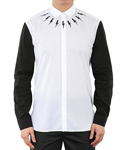 wiberlux-neil-barrett-mens-thunder-print-contrast-sleeve-shirt-41-white